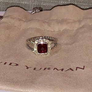 David Yurman Albion Petite amethyst/diamond ring